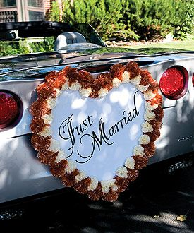 Decorate this single heart decorative form to express your style single heart form wedding car decoration wedding car decorations car decoration wedding just married sign for car just married car junglespirit Image collections