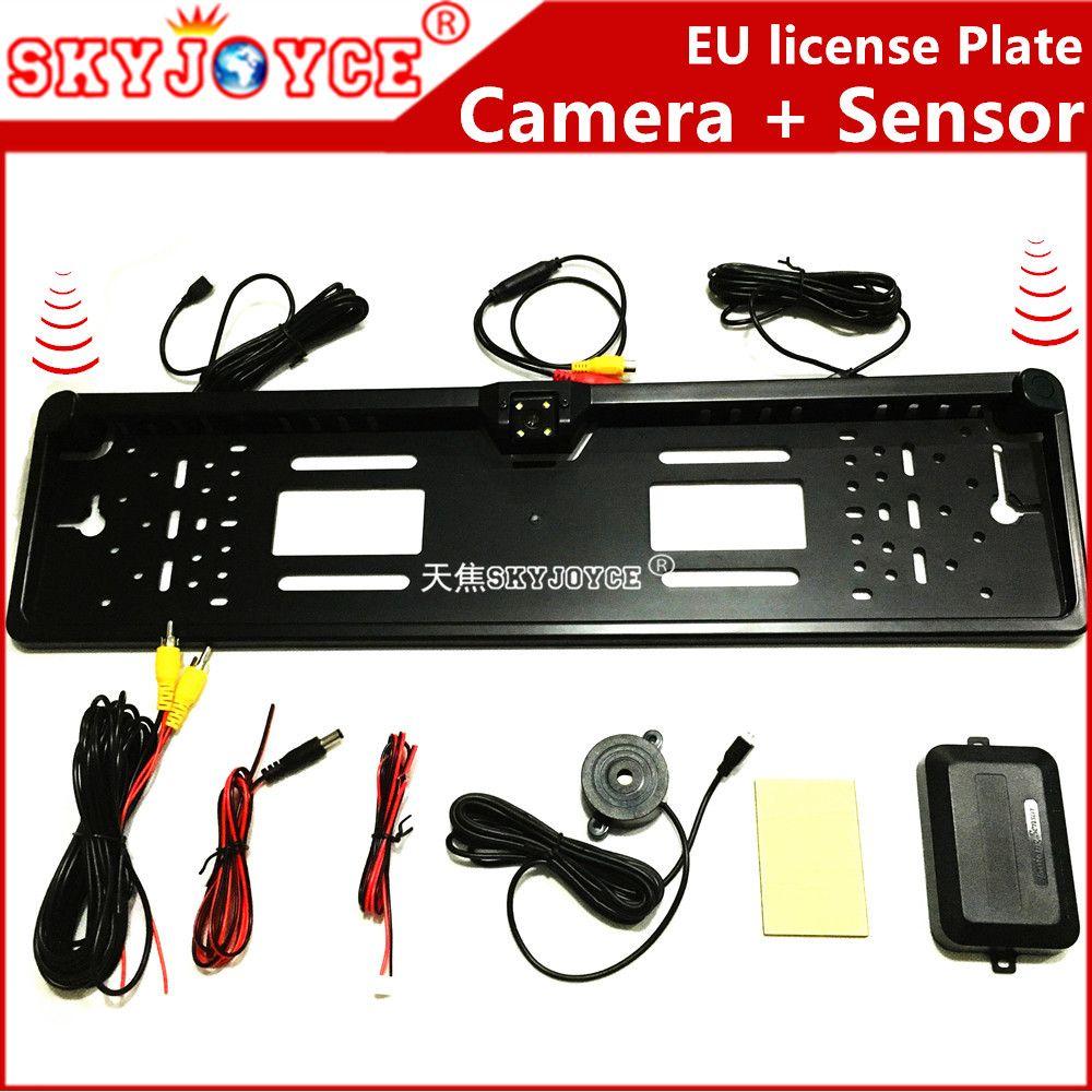 CCD HD rearview camera car European license plate frame camera Light ...