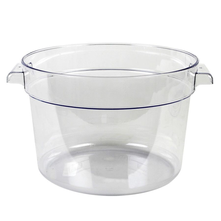 Choice 12 Qt Clear Round Polycarbonate Food Storage Container With Red Gradations Food Storage Food Storage Containers Storing Spices
