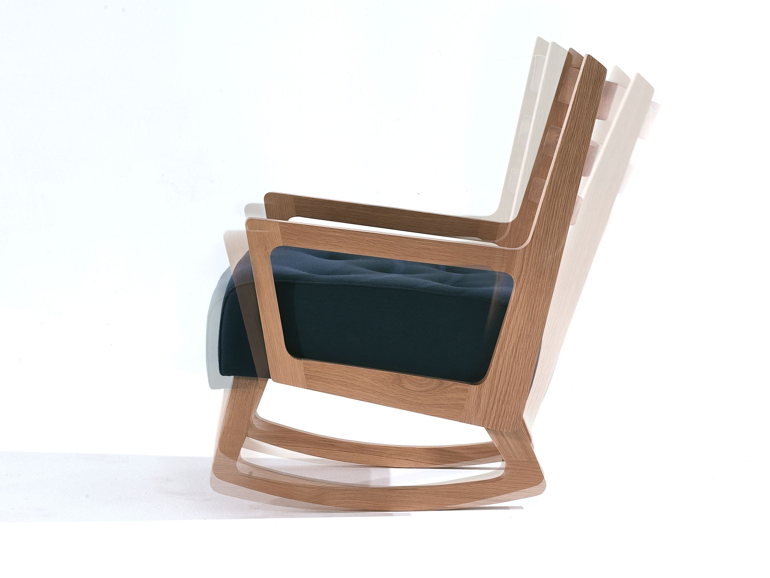 Wooden easy chair designs - Rocking Wooden Easy Chair With Armrests Oliver By And Then Design