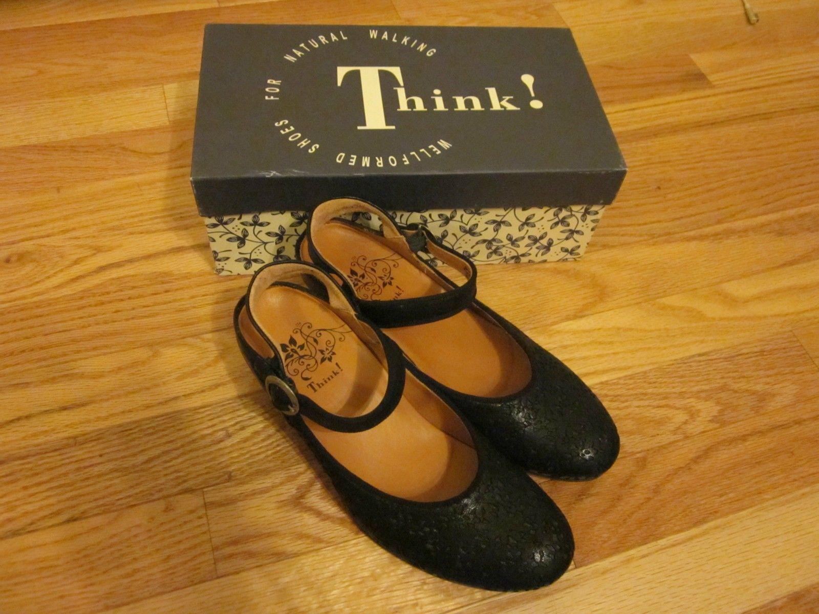 Natural Walking Black Leather Size 39