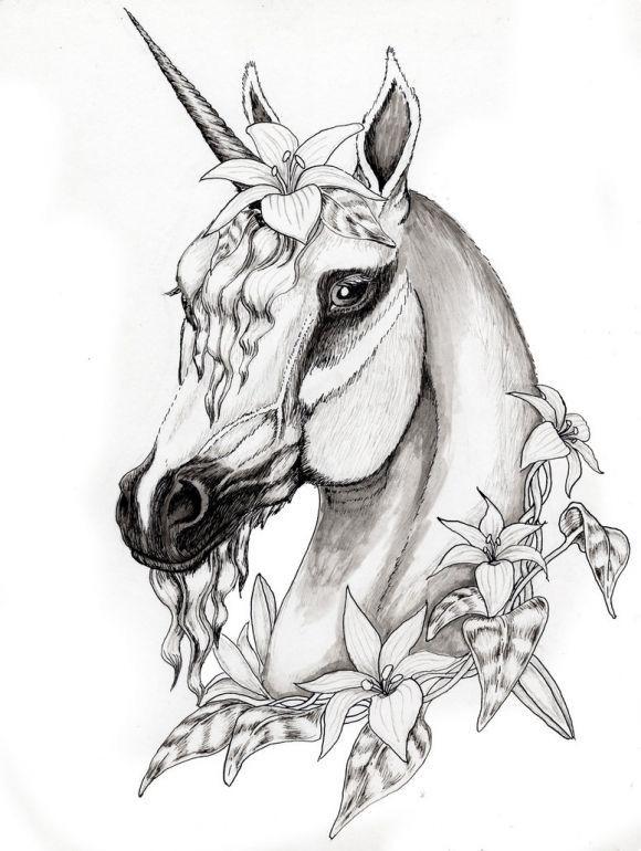 2017 02 03 B W Christmas Unicorn Horse Coloring Pages Unicorn
