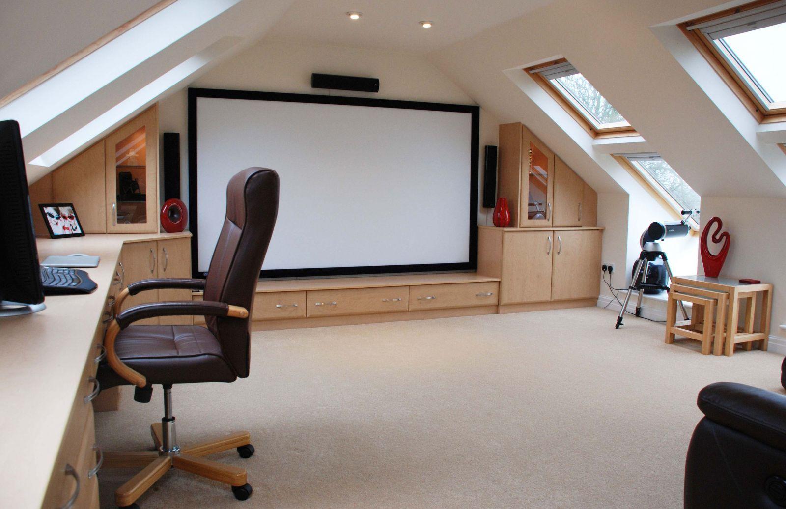 Loft Computer Room Attic Rooms Attic Renovation Home