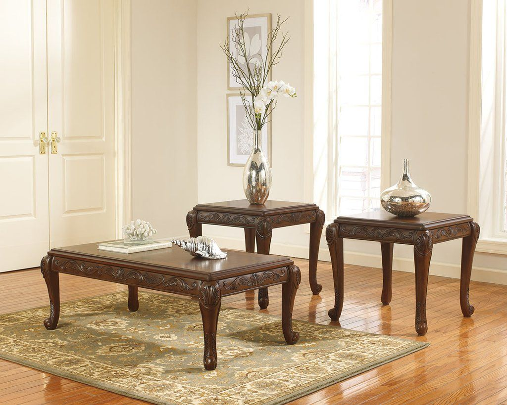 St Martin Carved Coffee Table Set By Ashley Furniture My