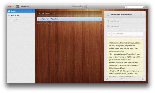 Wunderlist for Mac free download latest version for MAC, Wunderlist
