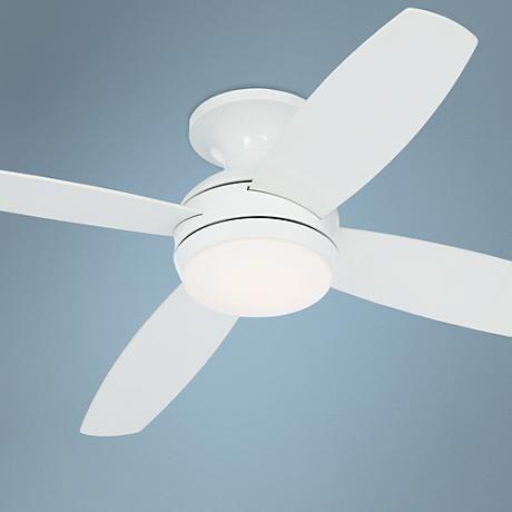 Possini Euro Design 44 Encore White Hugger Ceiling Fan Ceiling