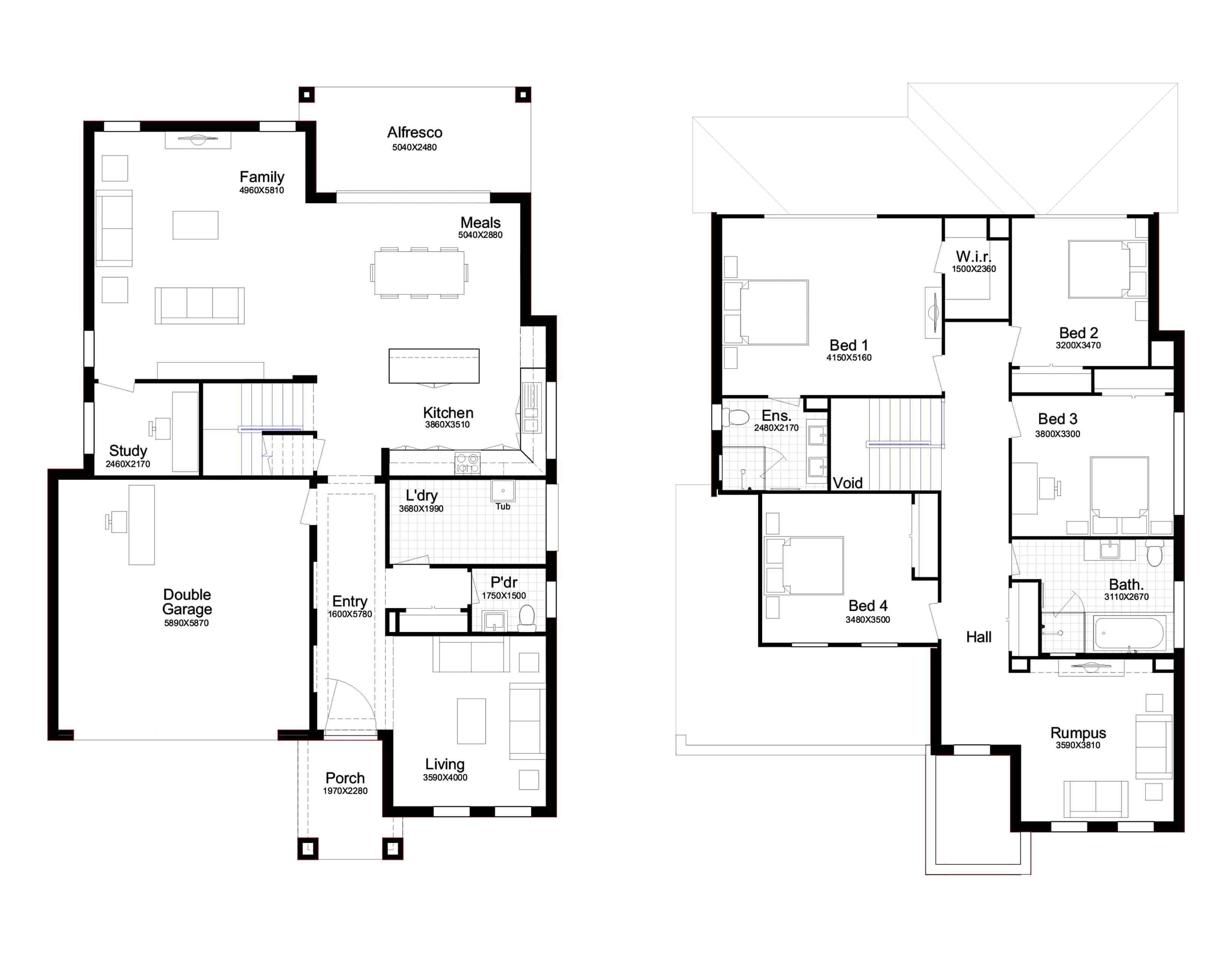 Floor Plan For Anita 34 Floor Plans Double Storey House House Design