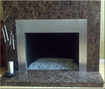 Aluminum fireplace surround   House DIY   Pinterest   Fireplace ...