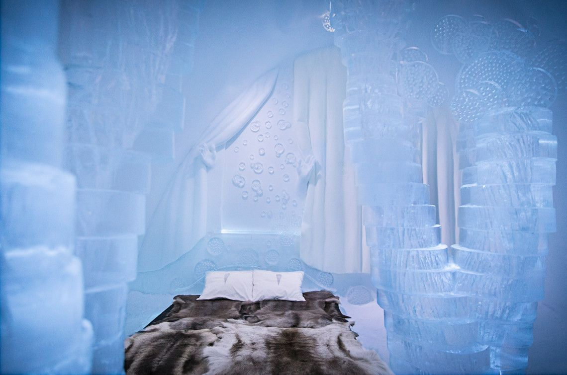 Icehotel Sweden The First Hotel Made Of Snow And Ice In The World