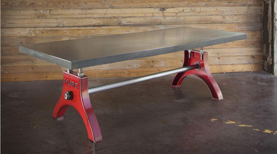 Hand Built Base By Vintage Industrial Furniture In Phoenix, AZ. Concrete Top  Built By SlabHaus Concrete Studio In Tempe, AZ.