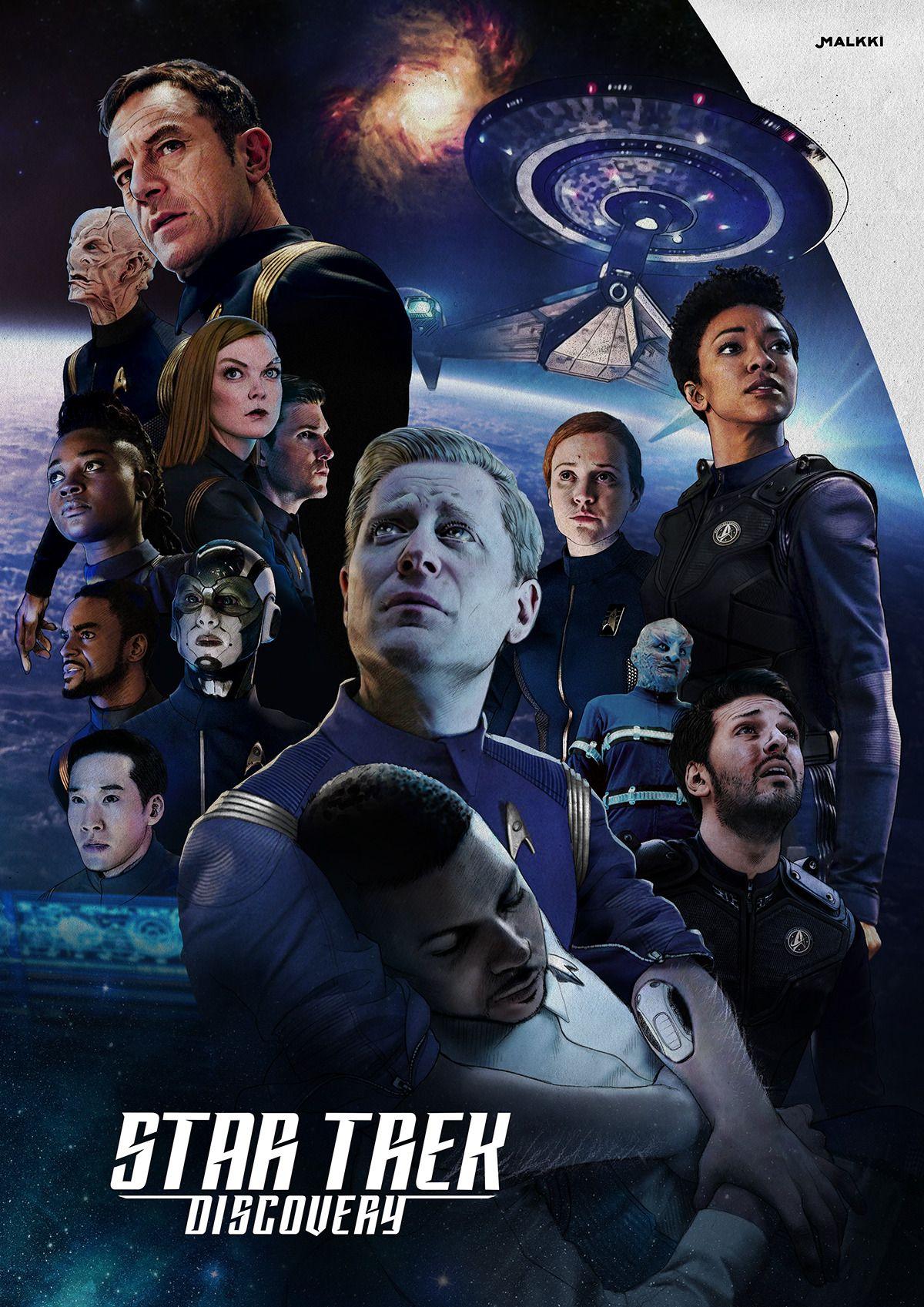 Culmets Centric Startrekdiscovery Cast Posterdesign With Paulstamets Anthonyrapp And Hughculber Wilso Fandom Star Trek Star Trek Characters Star Trek