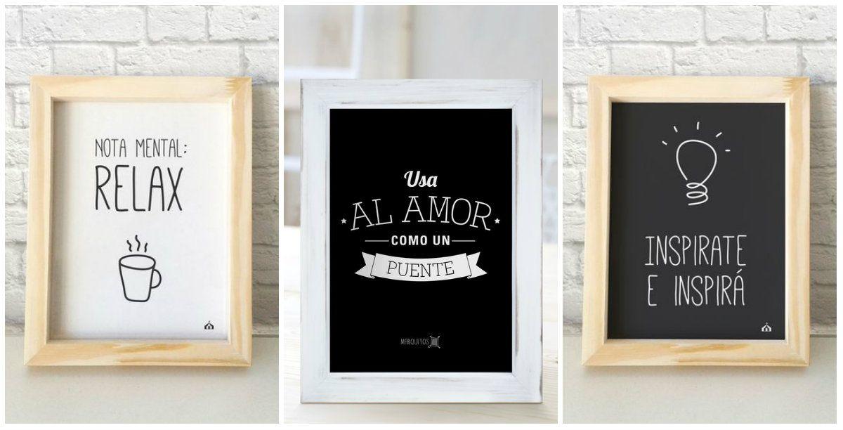 Marcos con frases imprimibles pinterest cuadros con - Cuadros para una habitacion ...