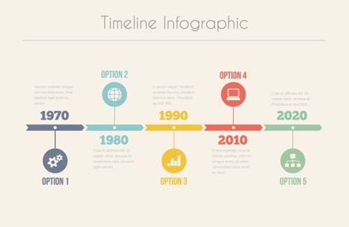 Infographic Timeline Vector Template Best Free Vector - Free timeline infographic template