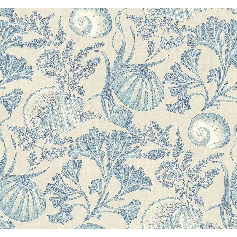 York Wallcoverings Nautical Living Coral Shells Wallpaper Ny4872