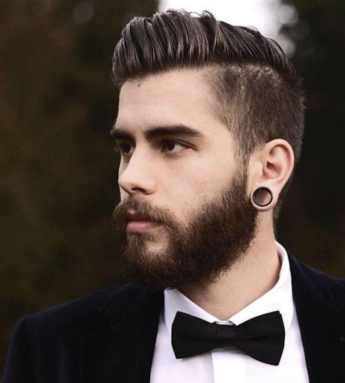 coiffure homme court cote long dessus 2014