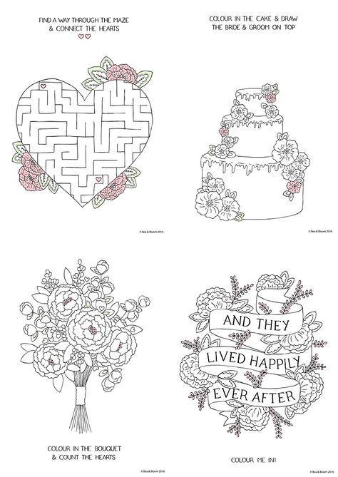 Free Download Printable Wedding Colouring Sheets For Kids Hochzeit Malvorlagen Kinder Hochzeitsaktivitaten Hochzeit Aktivitaten