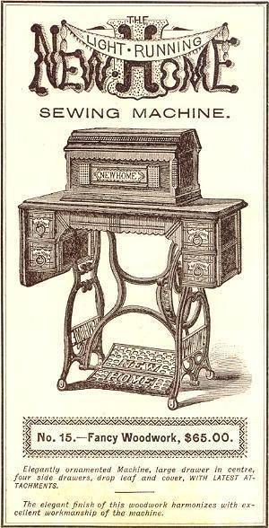 Vintage New Home Sewing Machine : vintage, sewing, machine, Sewing, Machine, Fancy, Woodwork, Machine,, Antique, Machines,, Vintage