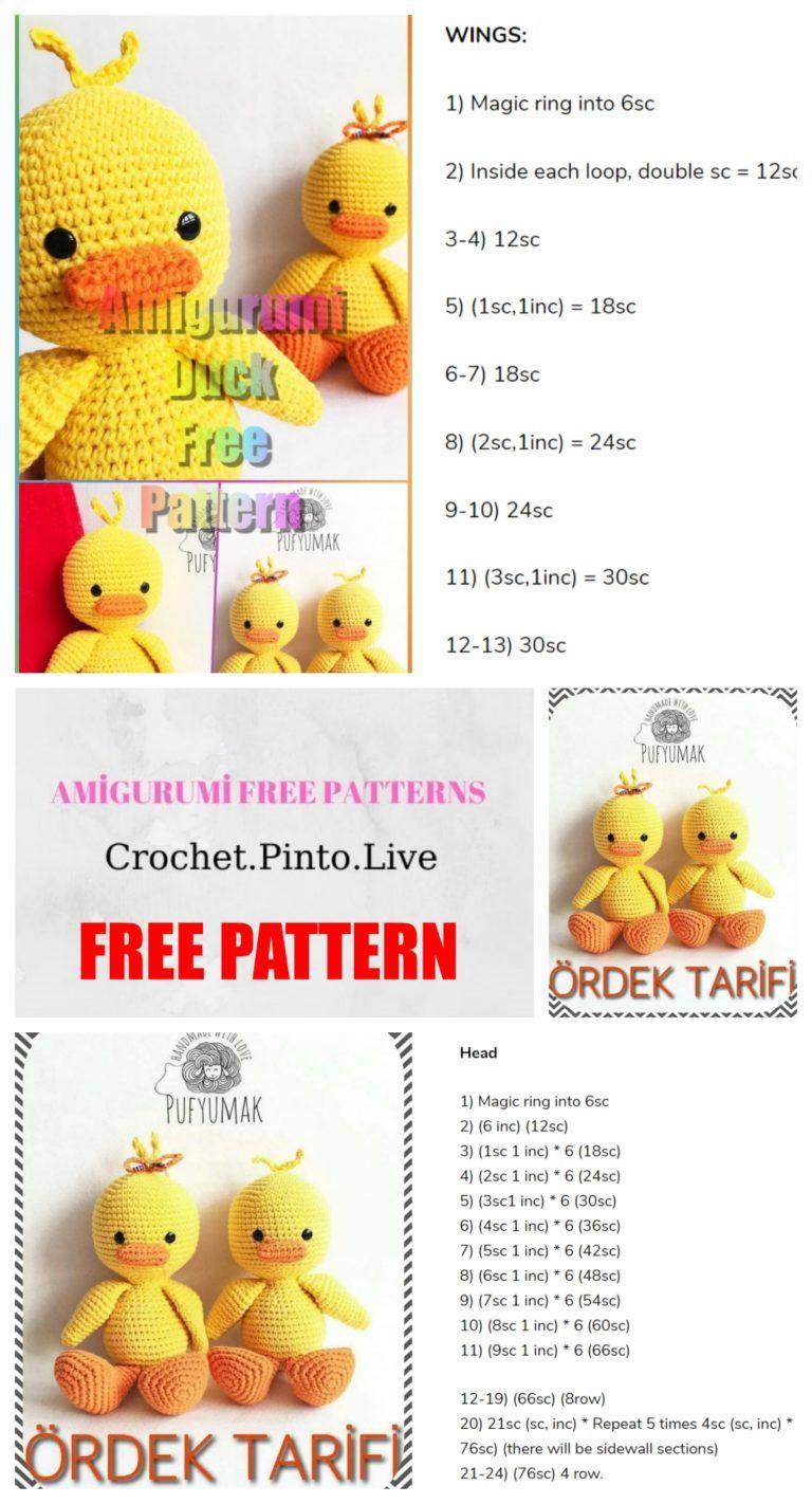 Amigurumi Duck Free Crochet Pattern Amigurumi Free Patterns Crochet Patterns Amigurumi Diy Crochet And Knitting Crochet Toys Patterns