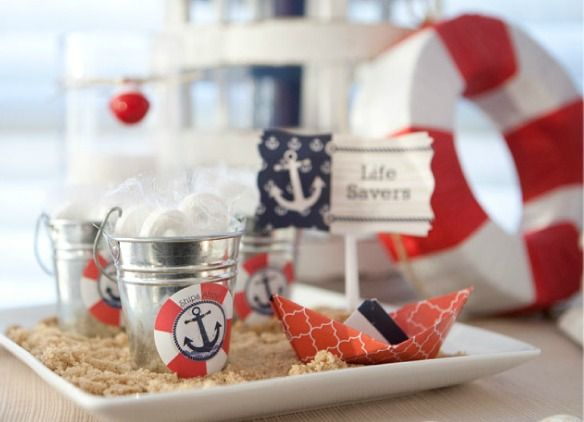 Use Brown Sugar In Place Of Sand To Decorate Your Party Space. It Is Much · Nautical  Theme Baby ShowerNautical ...