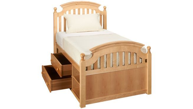 Stanley All Seasons Twin Slat Bed With Captain S Drawers