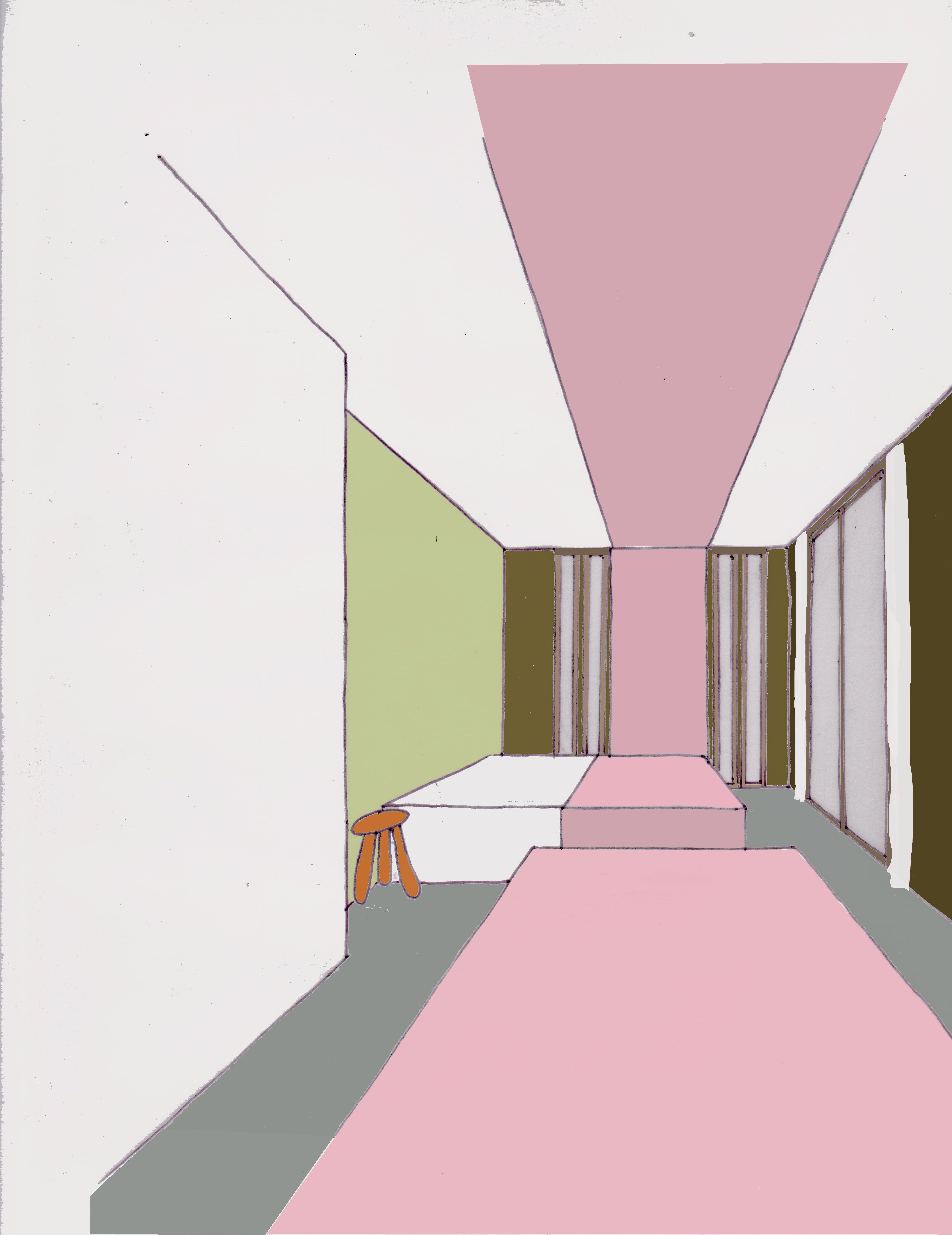 perspectief slaapkamer (master bedroom) inclusief badkamer (niet op ...