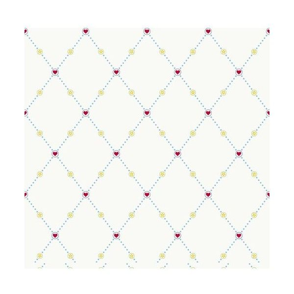 York Wallcoverings YS9155 Hearts & Harlequins Wallpaper Sky Blue / ($58) ❤ liked on Polyvore featuring home, home decor, wallpaper, double roll wallpaper, flower wallpaper, diamond pattern wallpaper, york wallcoverings et pattern wallpaper