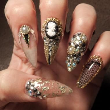 Nail Art Tutorial Nail Design Nail Art How To Stiletto Bling
