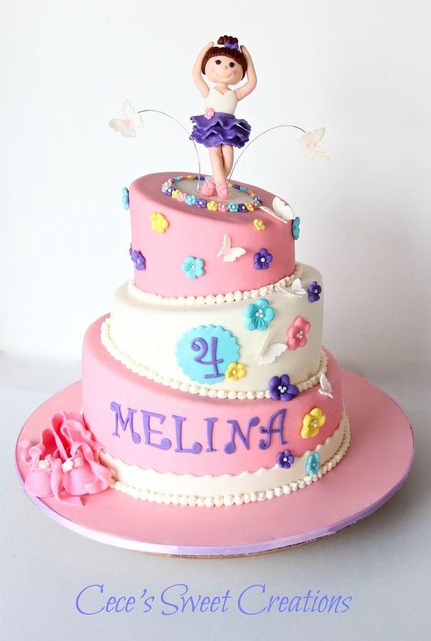 Ballerina Birthday Cake Ballerina Cakes Pinterest Ballerina - Ballet birthday cake
