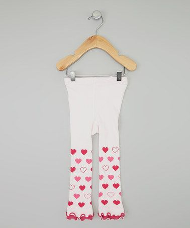 Another great find on #zulily! Pink Heart Ruffle Footless Tights - Infant, Toddler & Girls #zulilyfinds