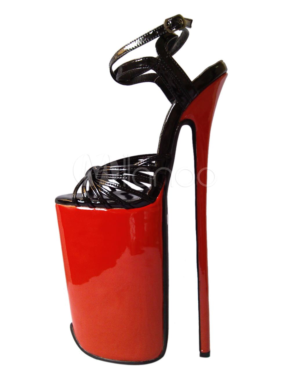 c6c8b6fc5fb6 Cowhide Ankle Strap Women s Sexy High Heels - Milanoo.com