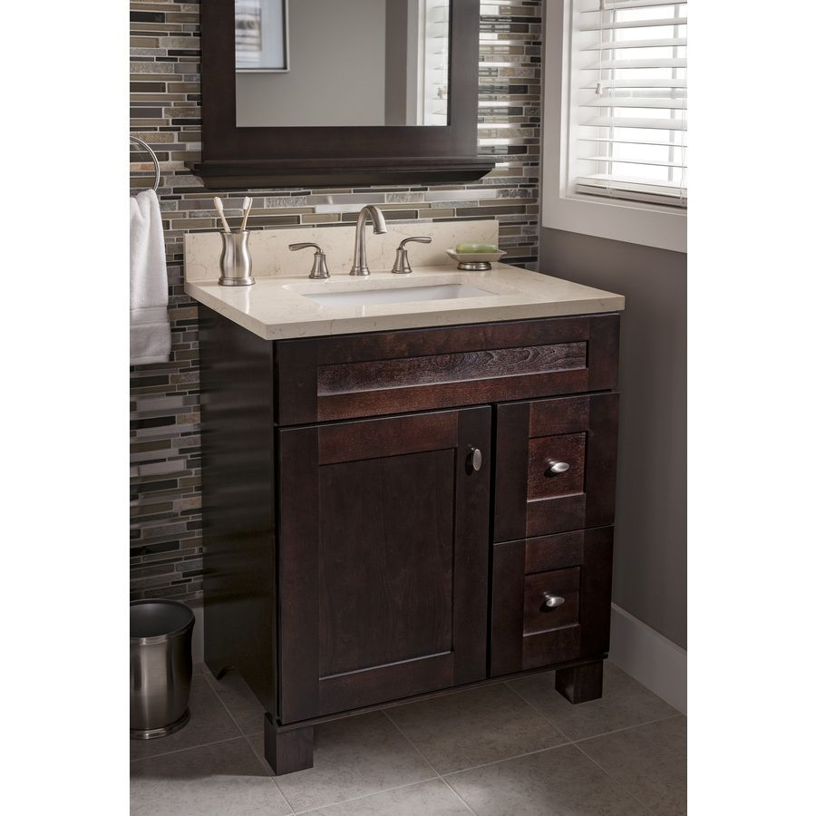shop allen roth marbled beige quartz undermount bathroom on lowes vanity id=52572