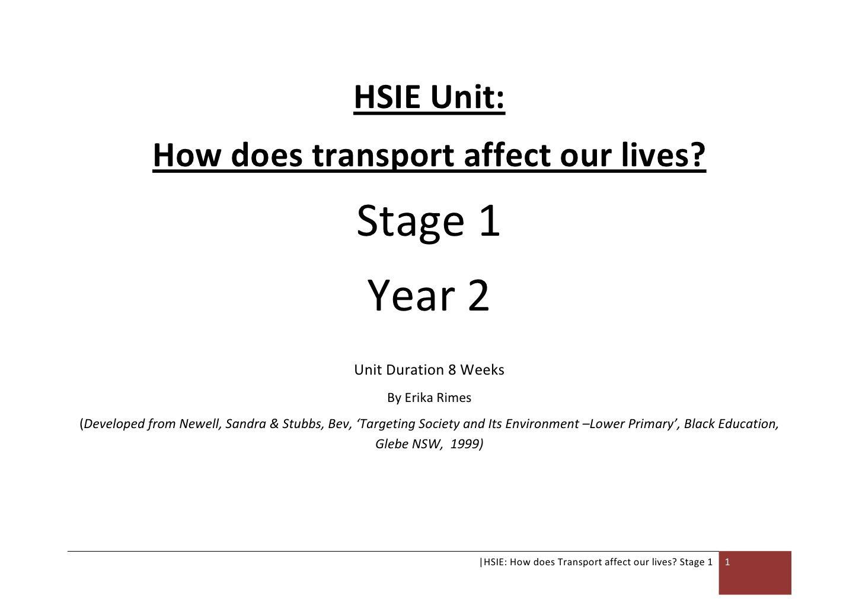 Erika Rimes Stage 1 Hsie Transport