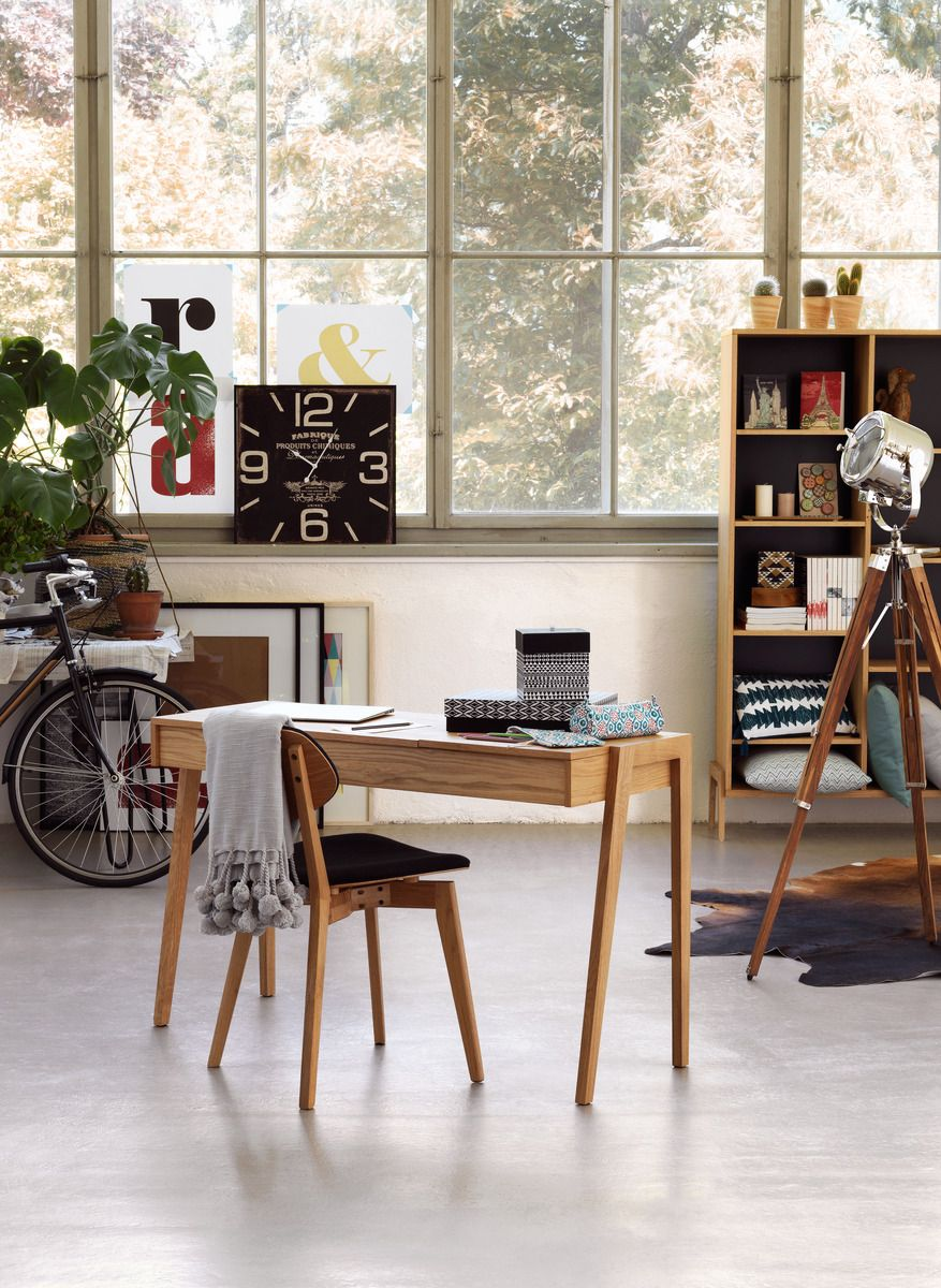 Micasa Arbeitszimmer mit Pult BAILY und Stuhl GATTI