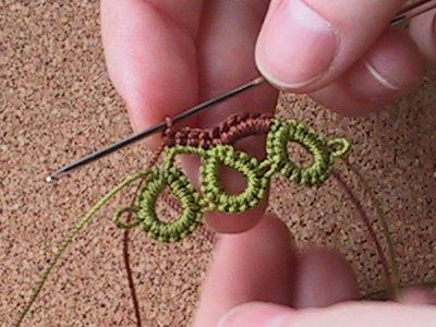 Crochet Tatting Tutorial Artesanato Crochet Cozinha Pinterest