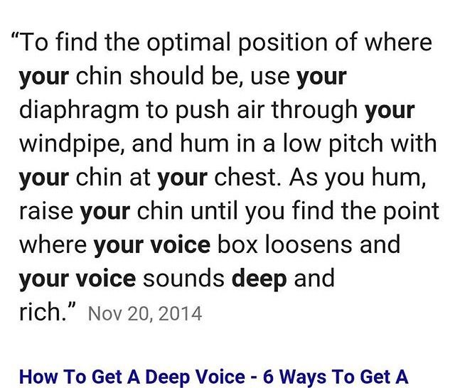 How To Get A Deeper Voice Wow Facts The Voice Self Help