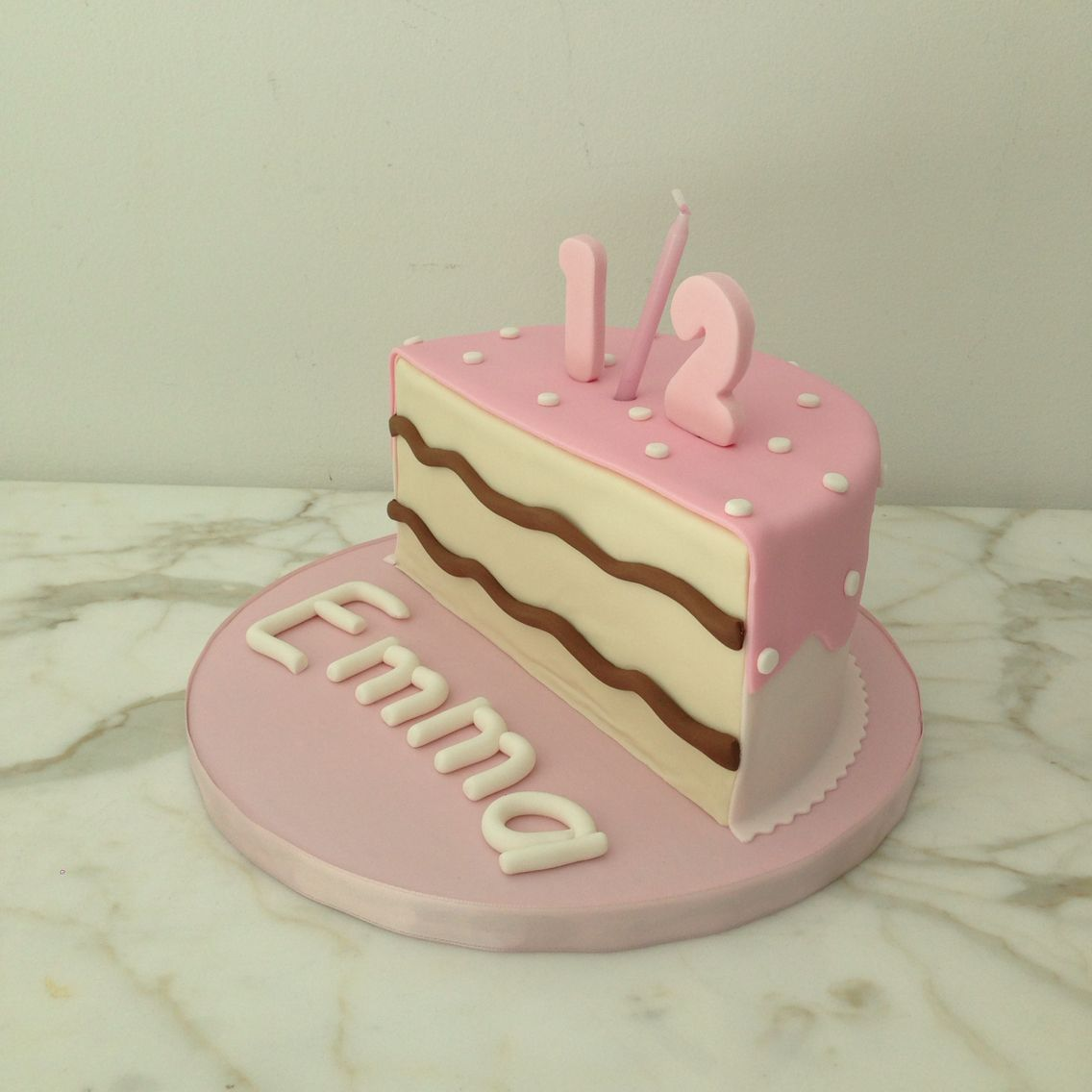 Marvelous Pink Half Birthday Cake 1 2 6 Months Baby Half Cake With Funny Birthday Cards Online Barepcheapnameinfo