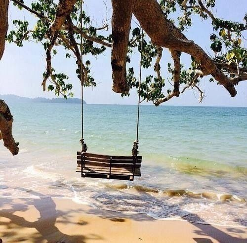 Swing over water [not on a rope].