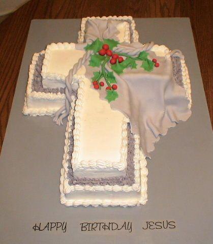 Strange Happy Birthday Jesus Cross Cake With Images Happy Birthday Personalised Birthday Cards Akebfashionlily Jamesorg