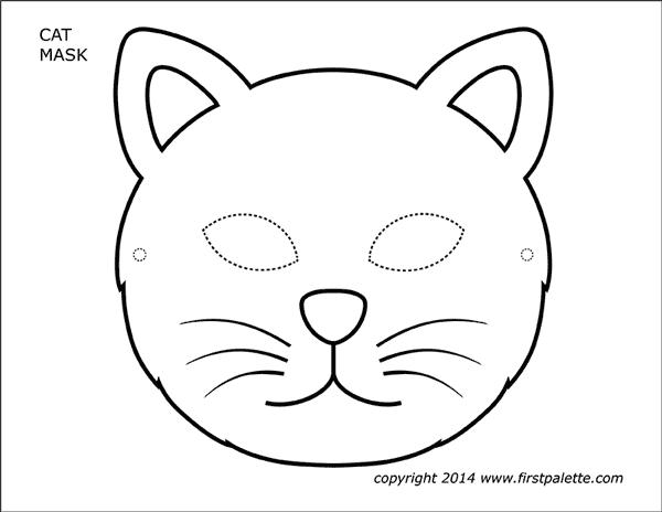 Cat Masks Free Printable Templates Coloring Pages Firstpalette Com Cat Mask Printable Animal Masks Animal Masks Craft