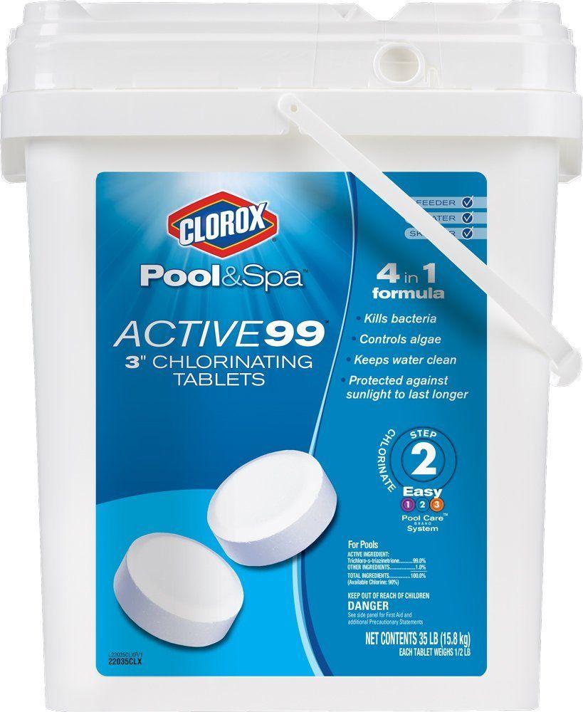 Clorox Pool Spa Active 99 3 Inch Chlorinating Tablets 35 Pound 22035clxw Clorox Pool And Spa Pool Chlorine Spa Pool