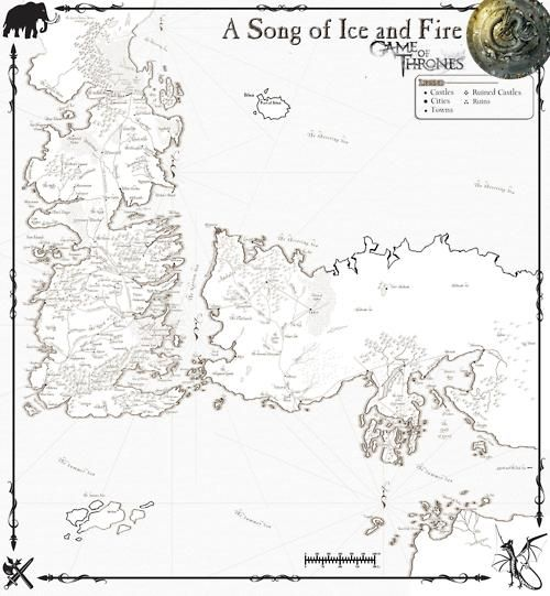 photograph relating to Printable Map of Westeros referred to as rapedbyrapture:Tune of Ice and Hearth map. artwork Recreation of