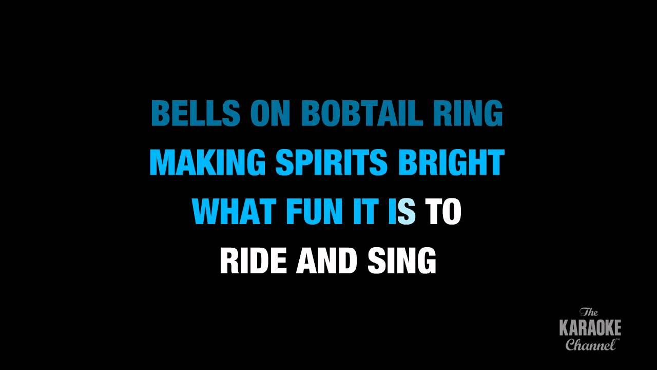 """Jingle Bells in the Style of """"Traditional"""" karaoke video with lyrics (no... 