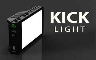 30b162e084a A new Kickstarter project called the Kick is a portable lighting studio for  your iPhone or DSLR.