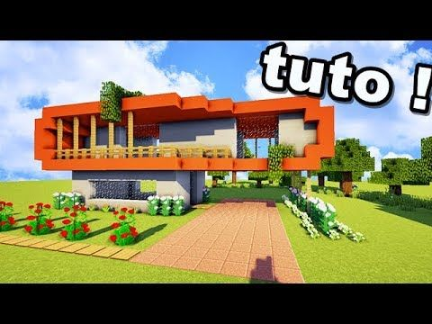 Tuto nouveau type de maison sur minecraft youtube for Modele maison minecraft
