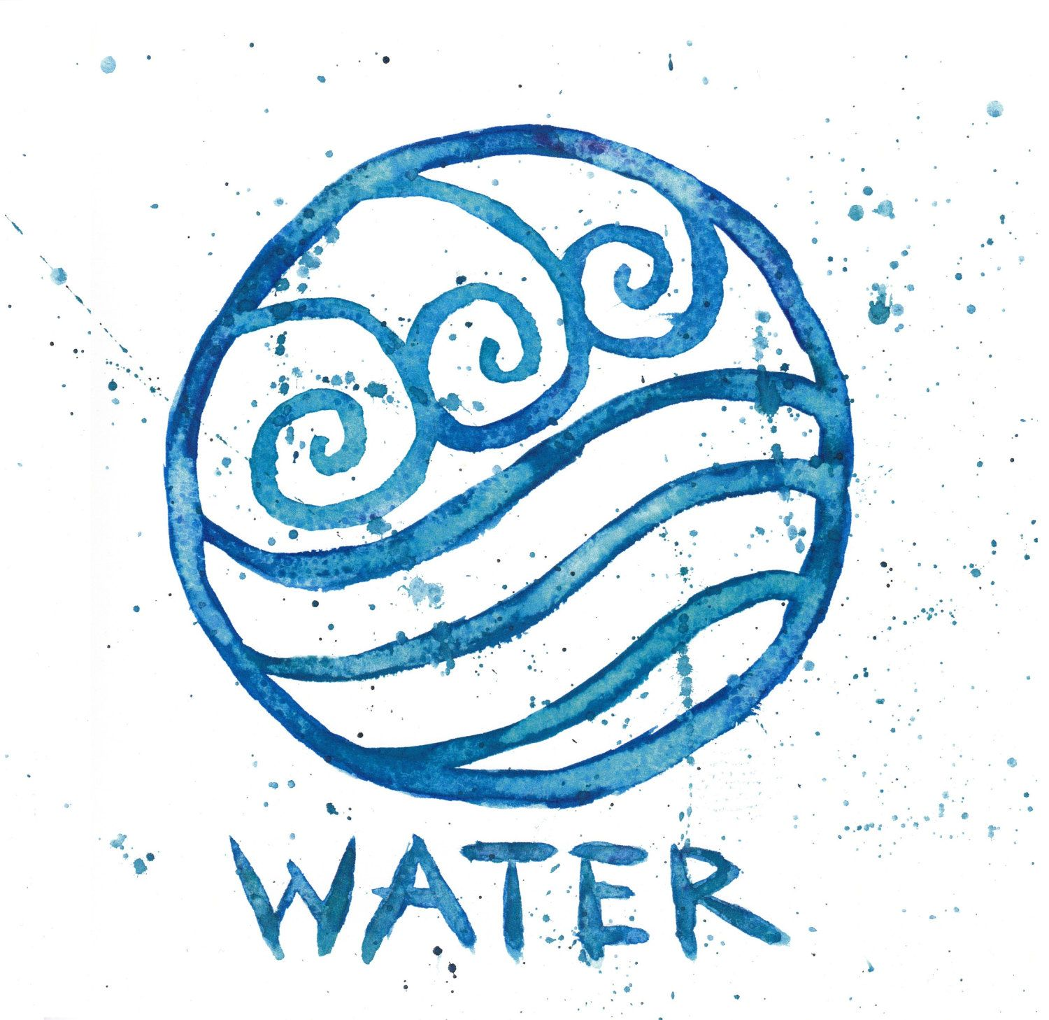 Pin by maria lazar on avatar the last airbender pinterest water tribe symbol watercolor painting by everlastingfantasy biocorpaavc Image collections