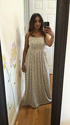 Scattered polkadot dress - long