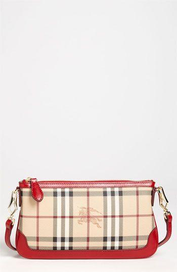 Burberry \'Peyton\' Haymarket Check Crossbody Bag available at ...