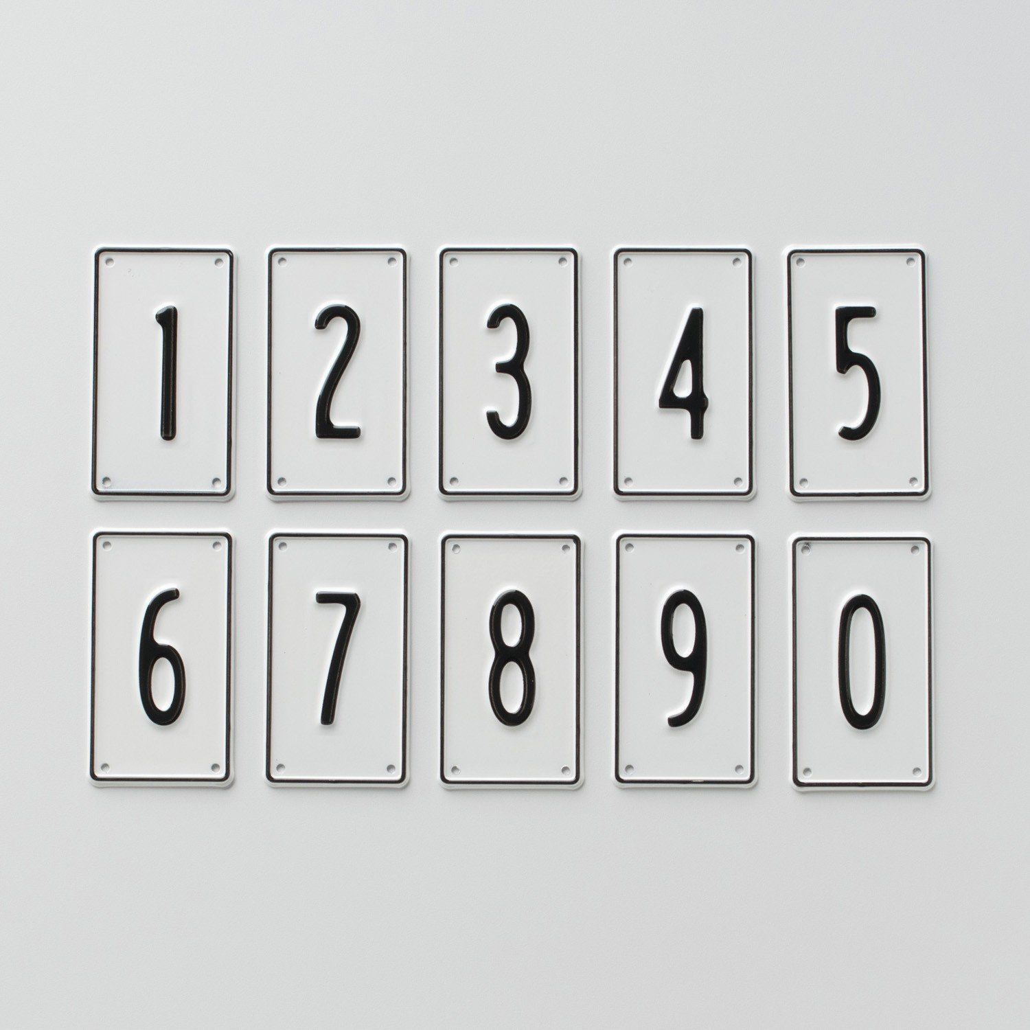 Black White Number Signs