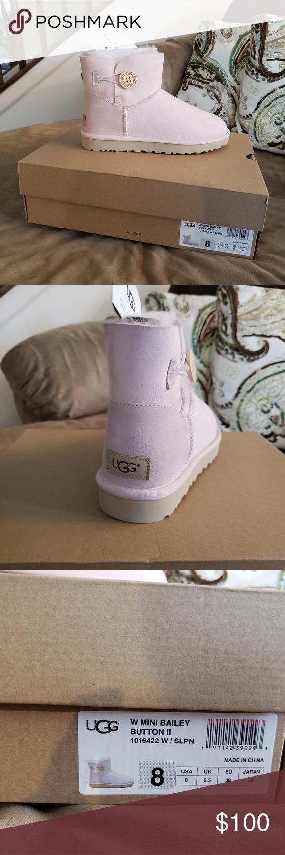79f2baf4657 NEW IN BOX UGG Mini Bailey Seashell Pink Size 8 UGG Mini Bailey ...