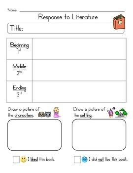 Response to Literature | Literature, Worksheets and Activities